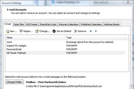Accounts listed