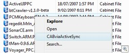 Cabviaactivesync